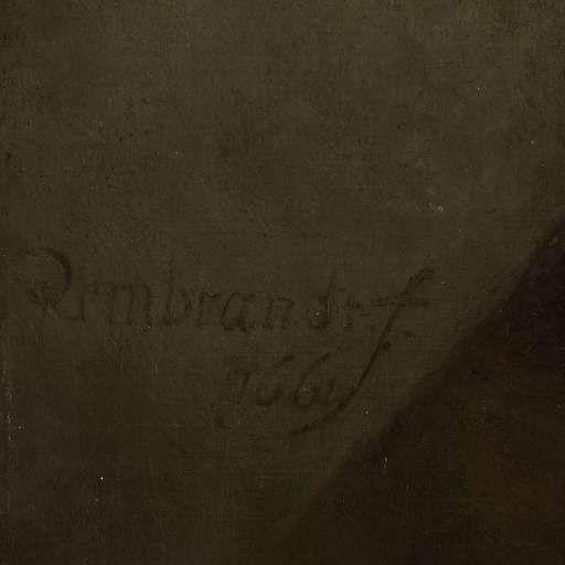 Zelfportret als de apostel Paulus, Rembrandt Harmensz. van Rijn, 1661 (Detail) - Rijksmuseum