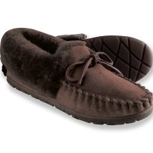 Real shearling wicked good moccasins form l l bean these look comfy