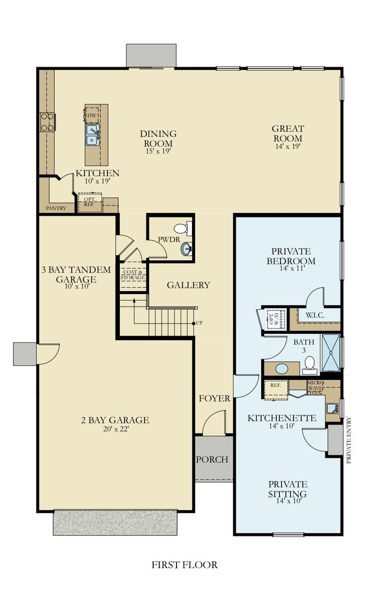 Two story home with mother in law suite. This floorplan ...