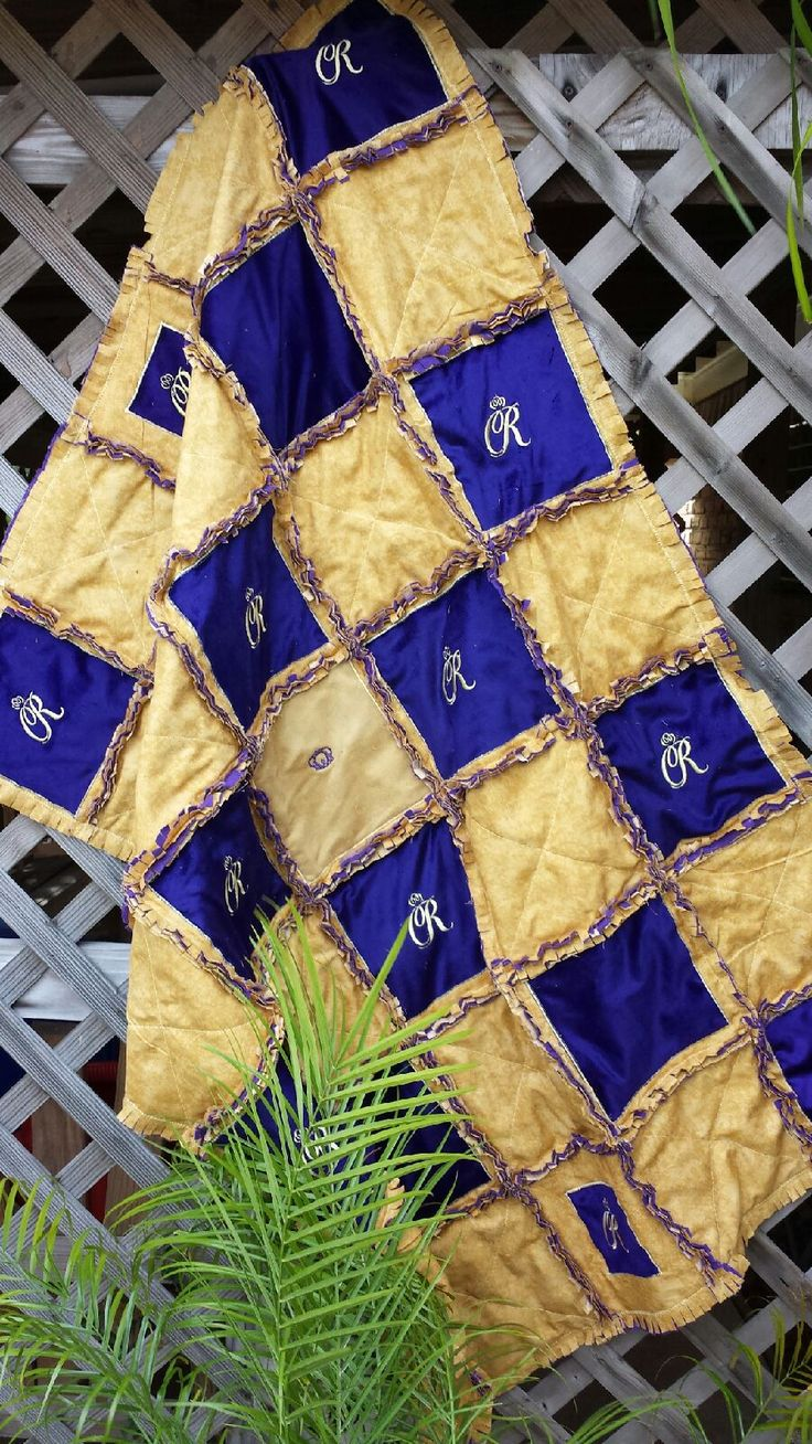 Crown Royal rag quilt - This one is made from the plush bags.  $189 for lap size (you supply the bags)  I also make them if I supply the bags for an extra charge.  www.facebook.com/michellesrags.  Paypal and credit cards welcome.  Shipping is available.  email me at michellesrags@gmail.com.