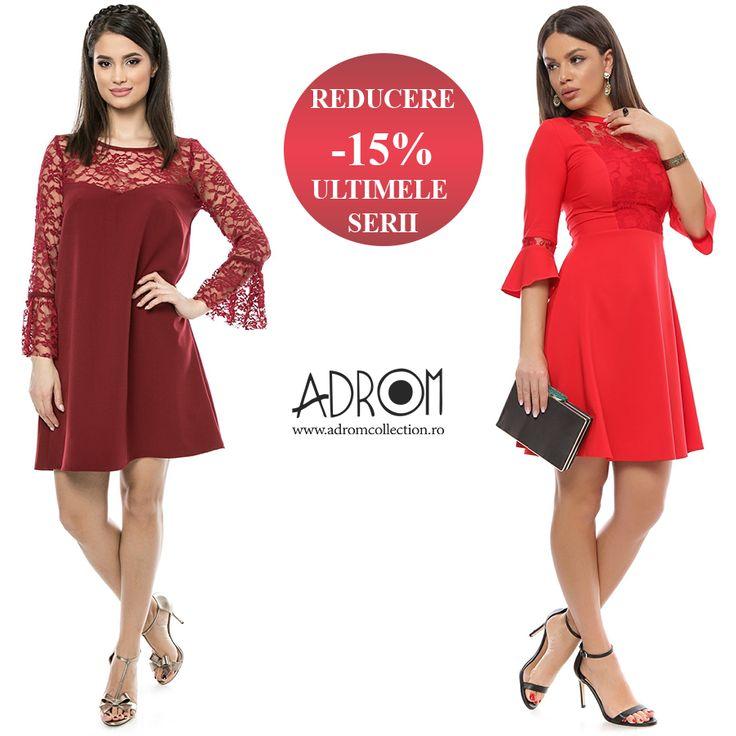 Profită acum de mega-reduceri la rochiile cu stoc limitat: http://www.adromcollection.ro/reduceri-de-pret