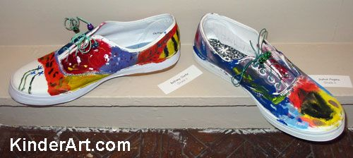 Painted Shoes Lesson Plan: Painting for Kids - KinderArt