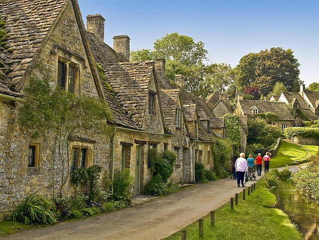 Arlington Row in Bibury, Gloucestershire by Anguskirk, via Flickr  Weaver's cottages...all natural materials and are over 600 years old.