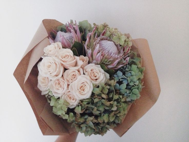 Birthday arrangement by Blossom & Thorn