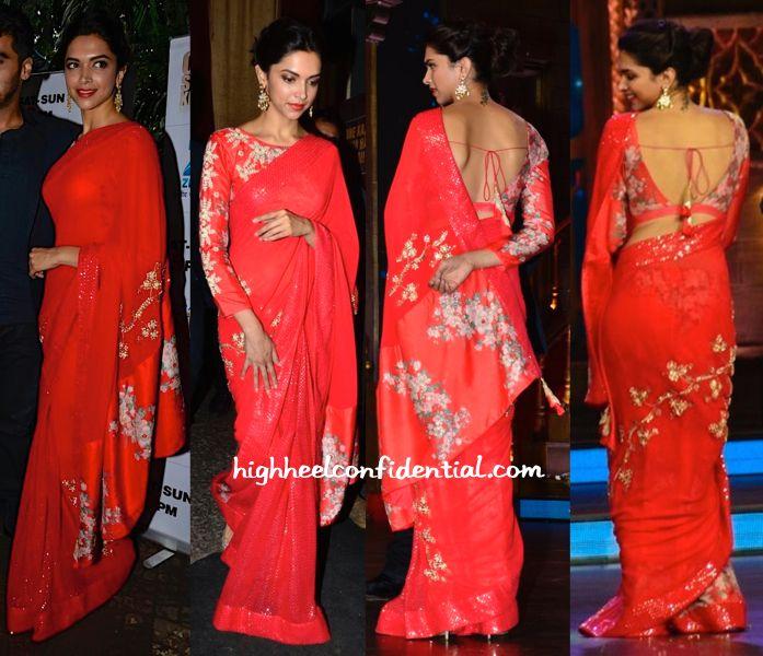 Deepika Padukone In Nikasha On Cine Stars Ki Khoj Sets For Finding Fanny Promotions-2