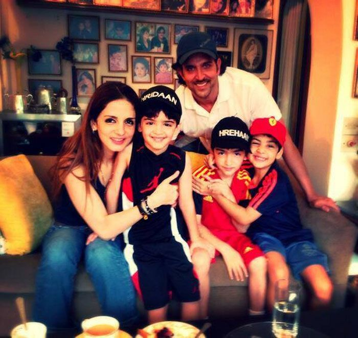 Pics: Meet Hrithik, Sussanne's little Roshans http://movies.ndtv.com/photos/meet-hrithik-sussanne-s-little-roshans-5938