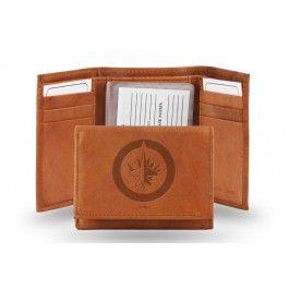 Winnipeg Jets NHL Embossed Leather Trifold/Wallet
