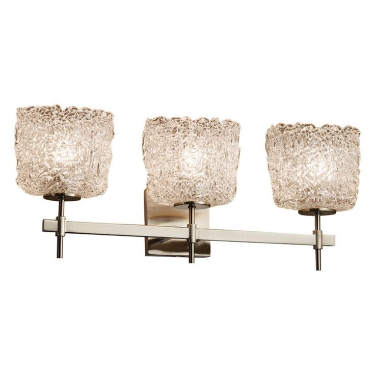 Justice Design Veneto Luce Union GLA-8413-30 Vanity Light - GLA-8413-30-LACE-NCKL