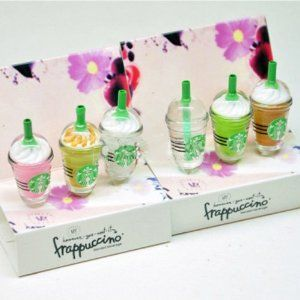 HOW CUTE ARE THESE!! Amazon.com: 6 pcs (whole set) StarBucks Frappuccino, Milk Cell Phone Charm 3.5mm Anti Dust Earphone Jack Plug iphone 4 4S: Cell Phones & Accessories