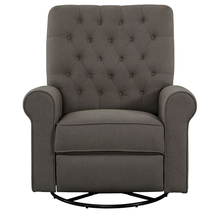 Fresh Pewter Traditional Swivel Glider Recliner