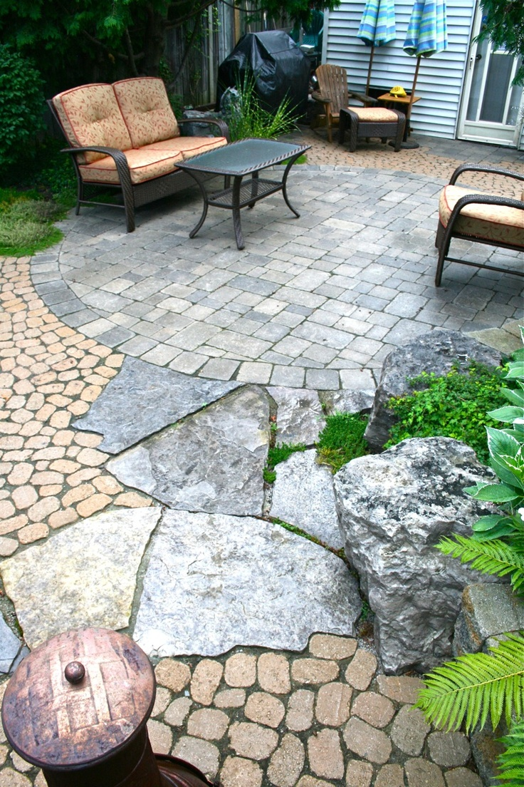 34 best images about brick and stone patios on pinterest for Bricks stone design