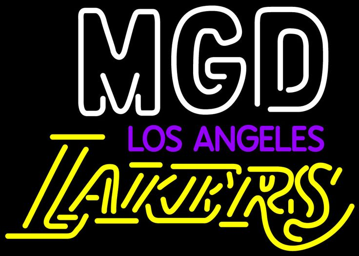 Miller MGD Los Angeles Lakers, Miller MGD Neon Beer Signs & Lights | Neon Beer Signs & Lights. Makes a great gift. High impact, eye catching, real glass tube neon sign. In stock. Ships in 5 days or less. Brand New Indoor Neon Sign. Neon Tube thickness is 9MM. All Neon Signs have 1 year warranty and 0% breakage guarantee.