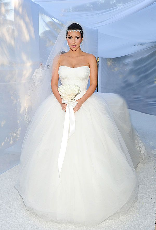 Vestido de noiva estilo princesa - Kim Kardashian