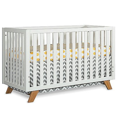 The contemporary, yet classic Child Craft SOHO 4-in-1 Convertible Crib is sleek and sophisticated. Its beautifully designed mid-century modern styling boasts clean lines and tapered legs that will add freshness to your nursery.