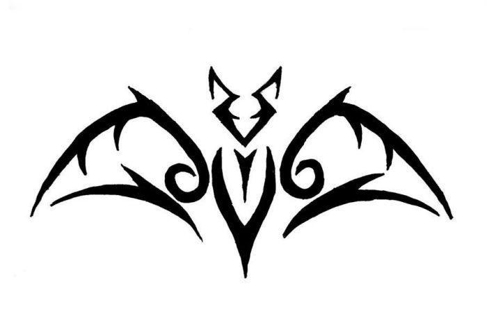 Tribal Fledermaus Tattoo Design Vorlage Fledermaus Tattoo Kleine Tribal Tattoos Tattoo Vorlagen