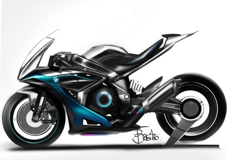 bmw sketch motorcycle