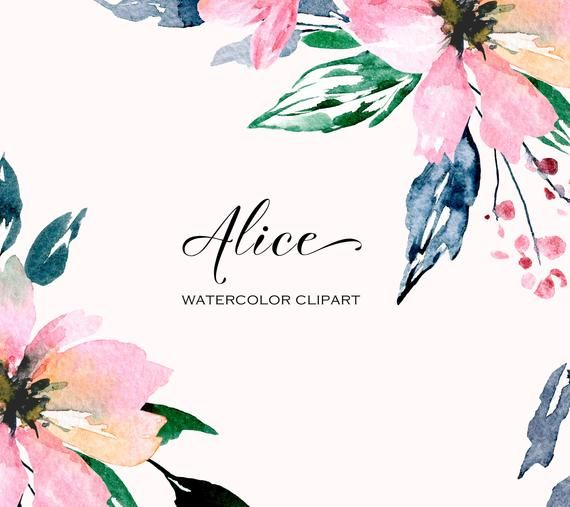 watercolor flowers digital paper Party flowers floral background Baby shower invitations scrapbooking Pettite Flowers