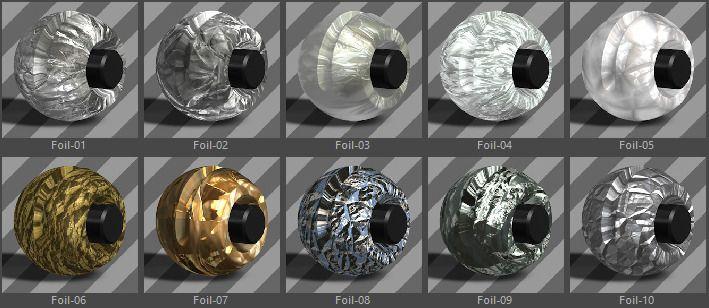 Metals Material Pack-11-Foil for Cinema 4D #Pack, #Material
