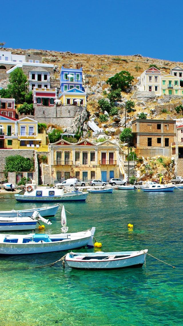 Greece Coast View iPhone 5s Wallpaper Download | iPhone ...