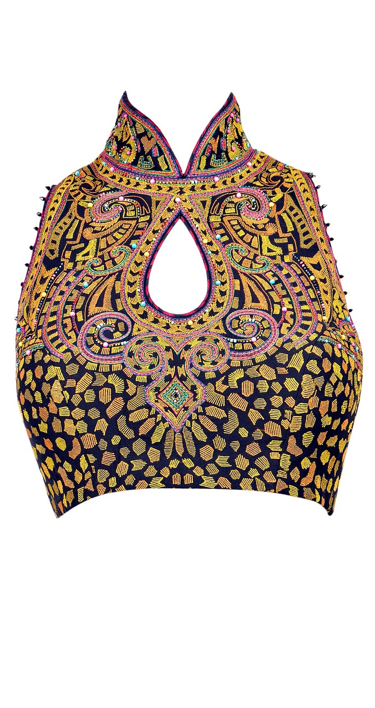 saree blouse design: Tarun Tahiliani....like the cut with maybe different design