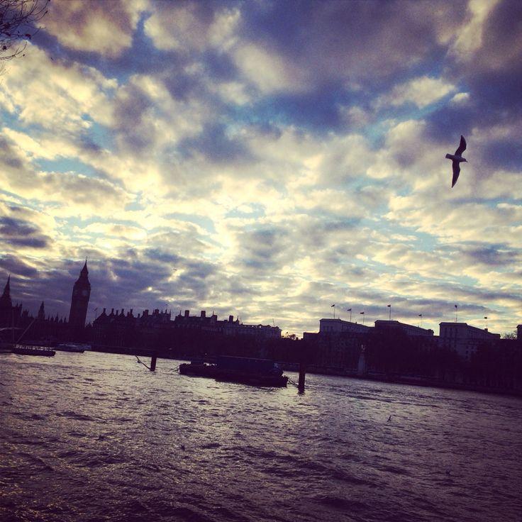 London. Big Ben. The Thames.