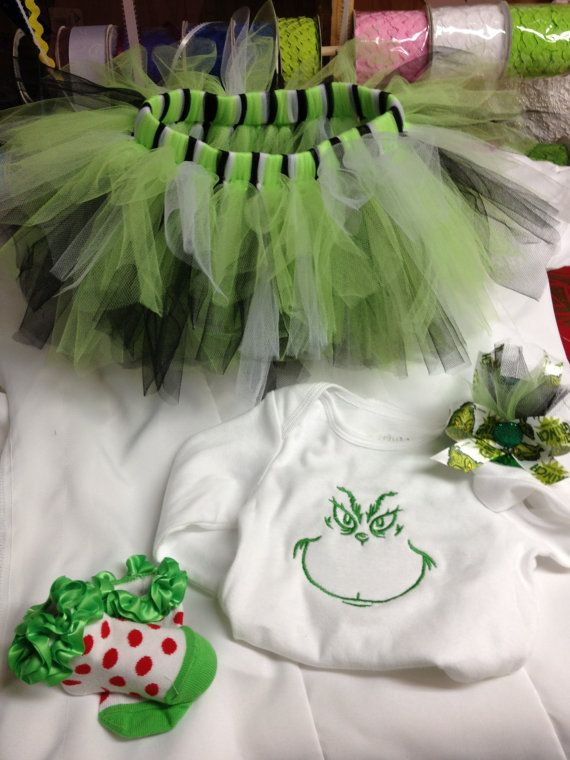 Baby girl tutu grinch costume size 6-12 months on Etsy, $65.00
