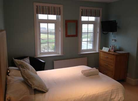 Newly refurbished hotel room in Bude, Cornwall with coastal views