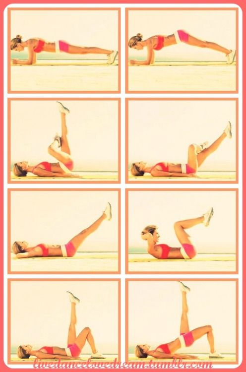 Audrina Patridge's Workout consists of 4 moves for a sexy 6-pack: Cat Raise, Cross-Legged Lift, Compound Crunch, and Offset Bridge. Two or three times a week, do one set of 20 reps of each move in order without resting then repeat the entire routine once or twice. Follow this simple plan  you'll have toned, flat abs all Summer long! {Click the link for more details!}
