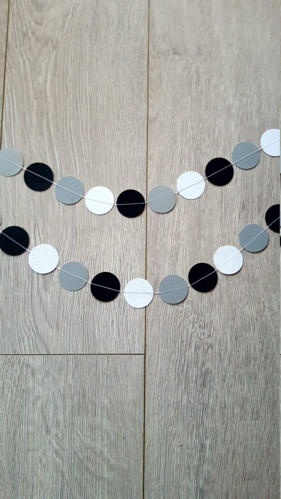 Check out this item in my Etsy shop https://www.etsy.com/au/listing/520832333/monochrome-garland-paper-garland-black