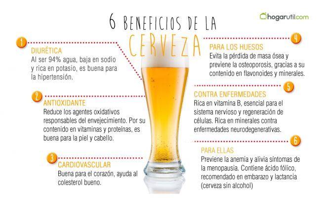 Propiedades saludables de la cerveza #infografía