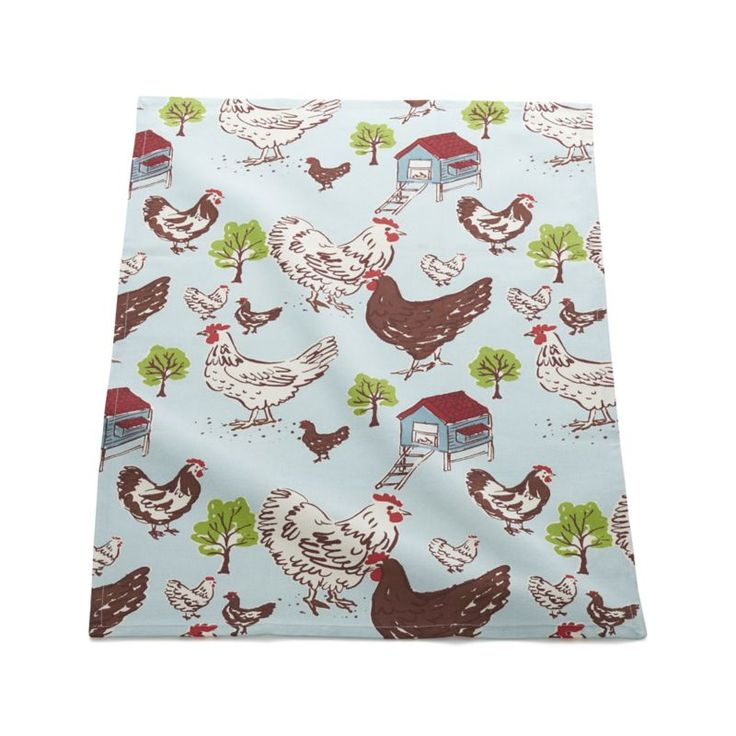Farmhouse Hen Dishtowel  | Crate and Barrel