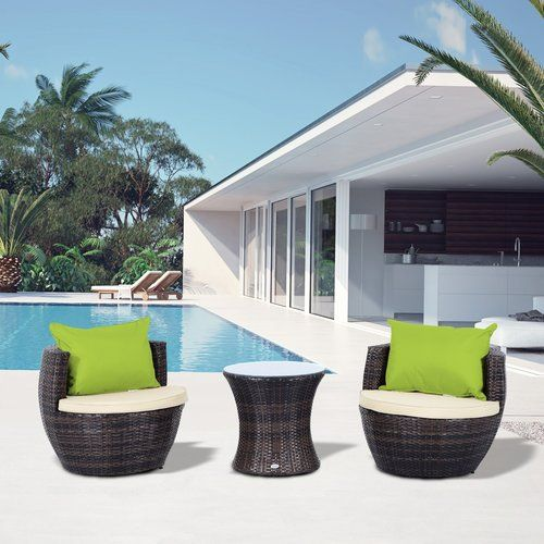 buy outsunny outdoor rattan stackable vase set mixed brown from our rattan garden furniture range at tesco direct