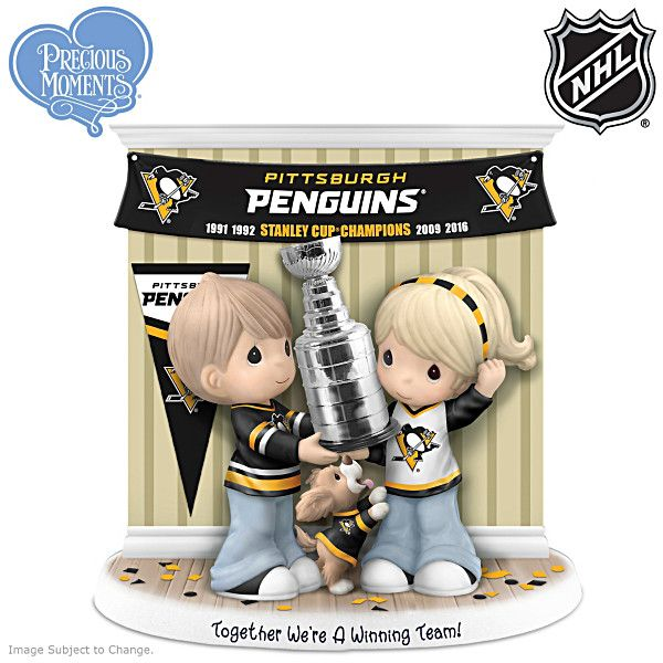 Penguins Stanley Cup Precious Moments Figurine