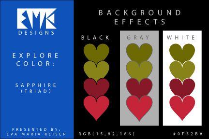 Eva Maria Keiser Designs: Explore Color Background Effects: Sapphire (Triad)...