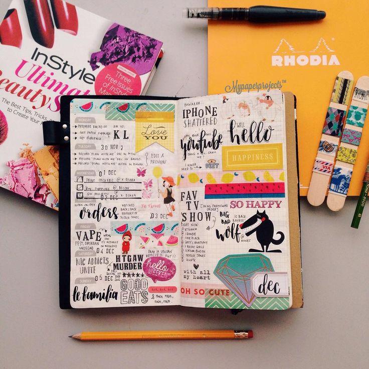 """""""Week 49 in my TN. . #planner #plannerlove #papercraft #plannernerd…"""