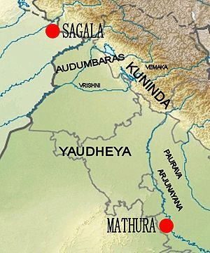 The Vrishnis were an ancient Indian clan who were believed as the descendants of Vrishni, a descendent of Yadu. It is believed that Vrishni was son of Satvata, a descendant of Yadu, the son of Yayati. He had two wives, Gandhari and Madri. He has a son named Devamidhusha by his wife Madri. Vasudeva, the father of Krishna was the grandson of Devamidhusha. According to the Puranas, the Vrishnis were residents of Dvaraka.