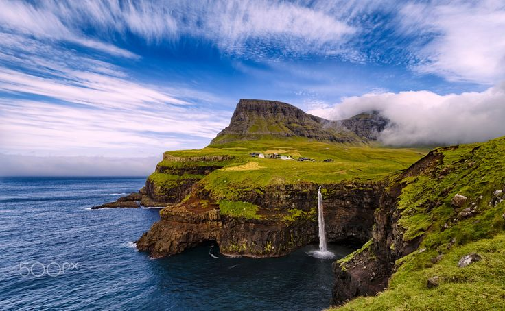 Unspoiled, Unexplored & Unbelievable - The wonderous Gåsadalur valley in the Faroe Islands with its wild unspoiled, unexplored and unbelievable nature! Adventure awaits!
