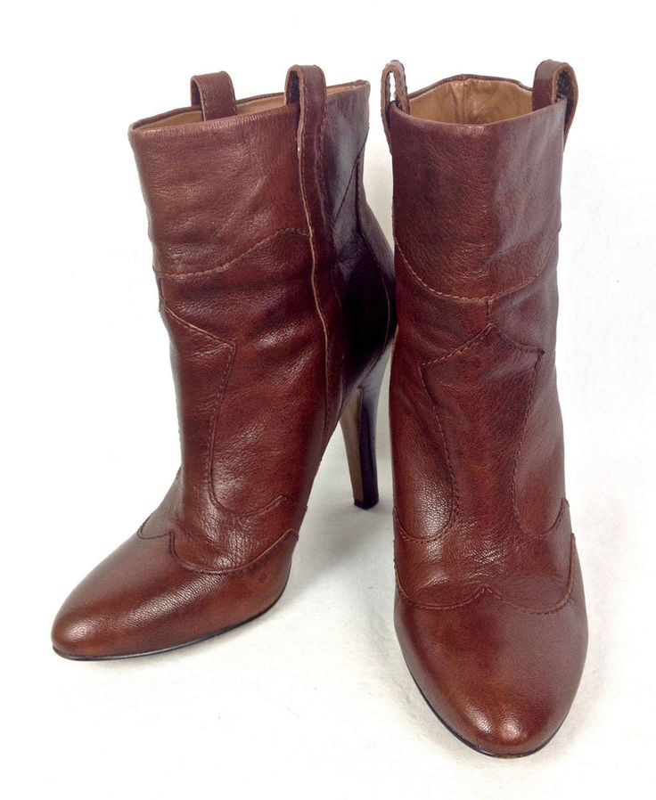 Nine West Shoes Womens Brown Leather Boots 10 #NineWest #MidCalfBoots #WeartoWork