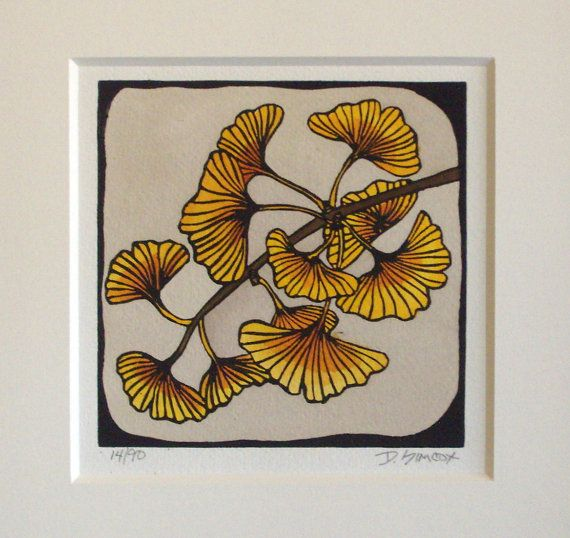 gorgeous gingko print.  love this.