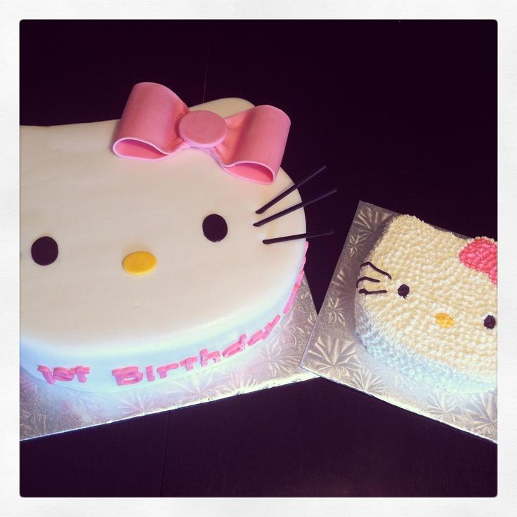 Hello Kitty cake with mini smash cake