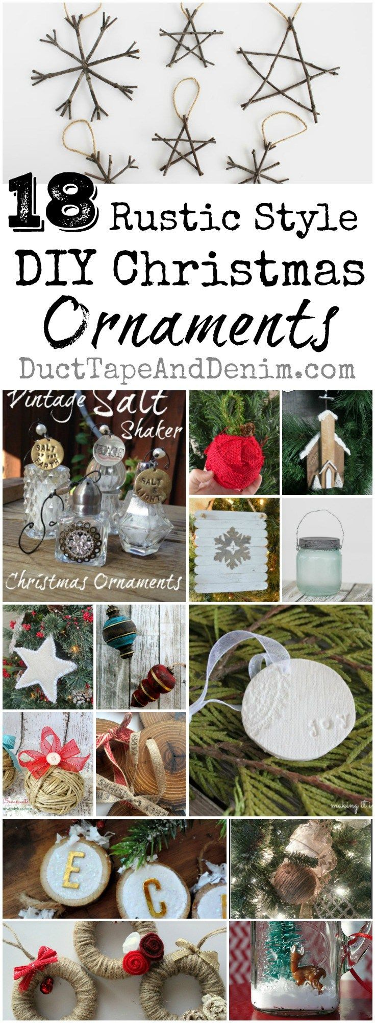 Diy christmas ornaments for newlyweds - 18 Rustic Diy Christmas Ornaments Tutorials Ornament Ideas On Ducttapeanddenim Com