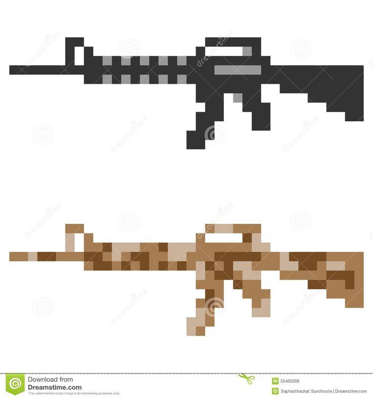 рисунки винтовок в клетку комната