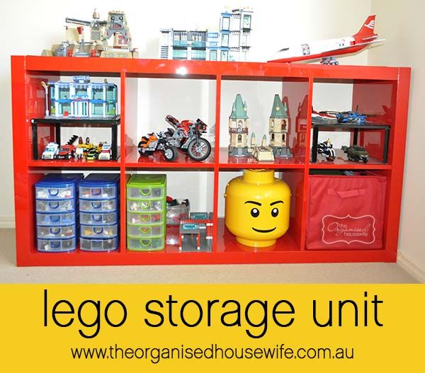 Lego storage and organising idea for a boys bedroom » The Organised Housewife