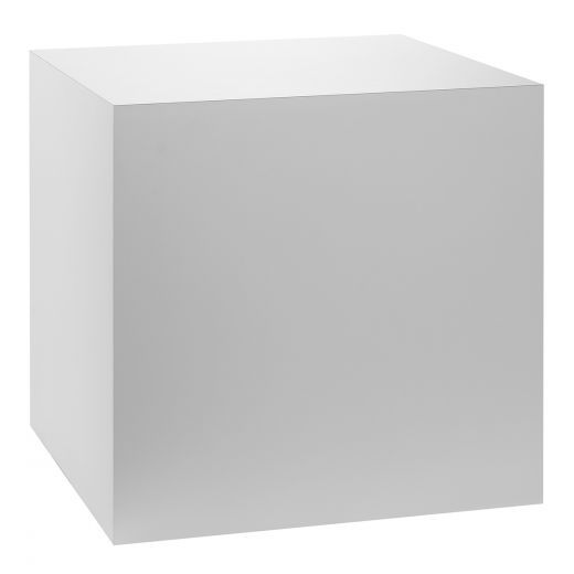 Peachy White Laminate Cube Table Pedestal Display Pedestals Download Free Architecture Designs Remcamadebymaigaardcom