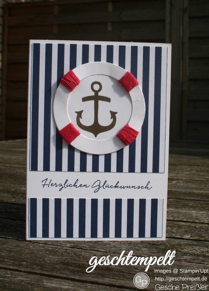 Stampin Up, seaside Shore, Florale Grüße