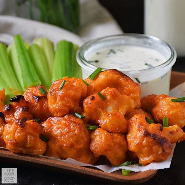 I had a version of these vegetarian buffalo bites at a Denver restaurant on Superbowl Sunday and I'm SO excited for the opportunity to recreate them.  Absolutely delicious alternative to a chicken wing!
