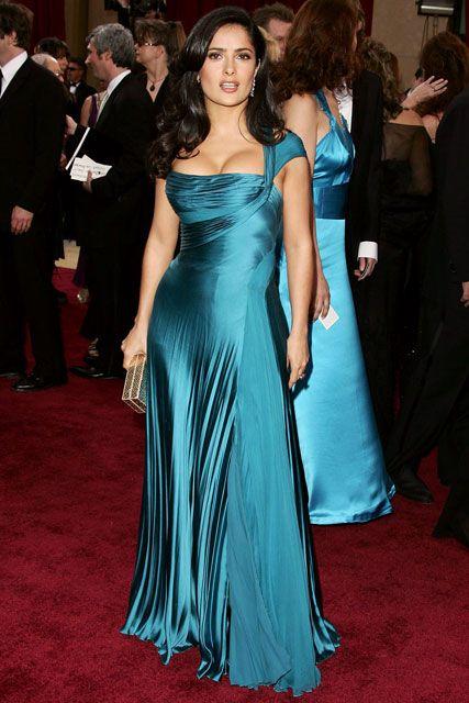 Salma Hayek - 50 Best Oscar Dresses - Marie Claire