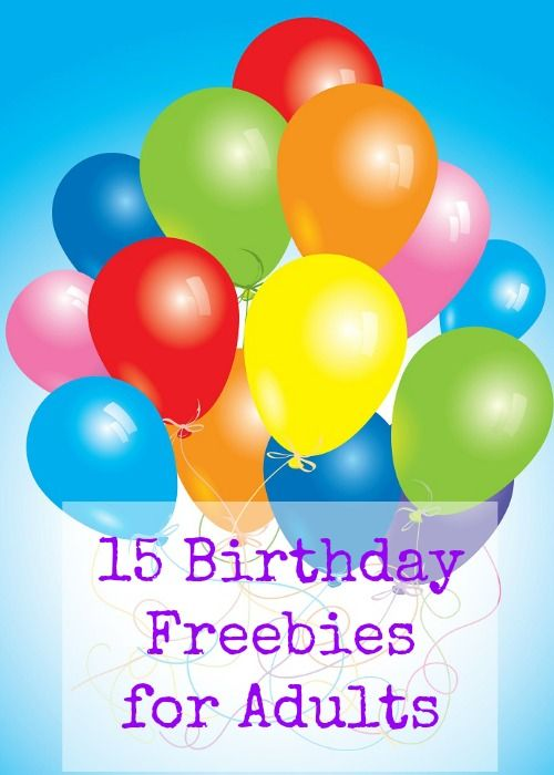 15 Birthday Freebies for Adults