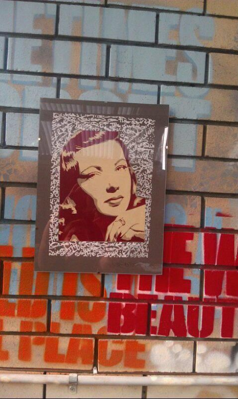 Lady of the silver screen (stencil on paper)
