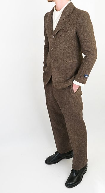 b9b11f9467 Unworn 1930s Tweed Suit at ballyhoovintage.com. Find this Pin and more on Vintage  Men and Men's Clothing ...